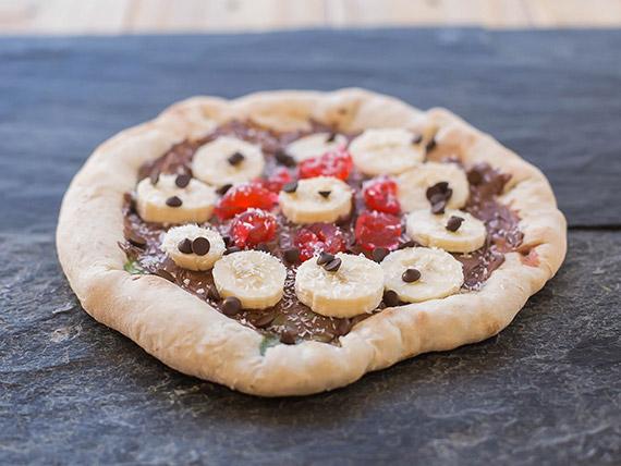 Pizza dulce de nutella (4 porciones)