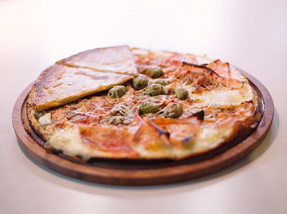 Promo - Pizza grande de jamón y morrones + 2 porciones de fainá