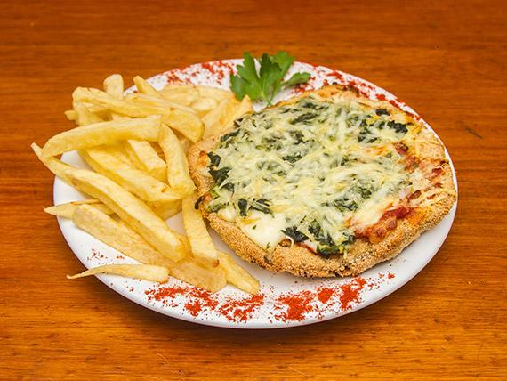 Pizzanesa fiorentina con guarnición
