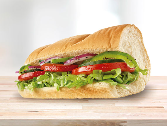 Subway deleite vegetariano (15 cm)
