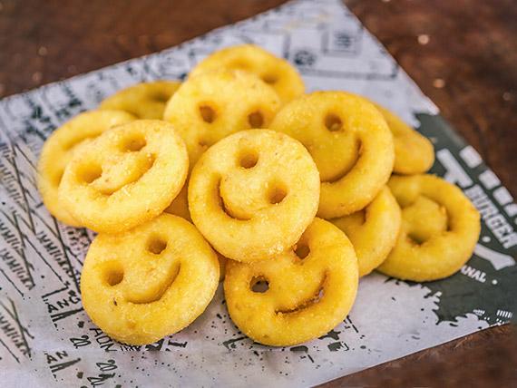 Porção de batata sorriso