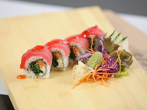 Spicy tuna roll (8 piezas)