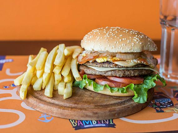Burger doble titán
