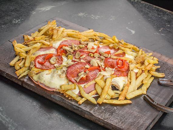Pizzanesa especial parisien con papas fritas