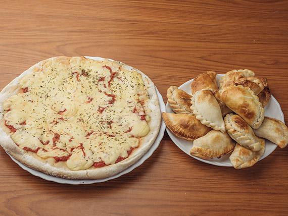 Promo 3 - Pizza muzzarella (8 porciones) + 12 empanadas