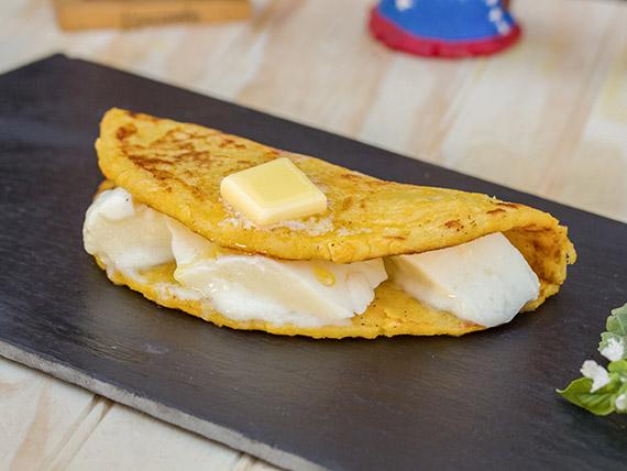 Cachapas con queso telita
