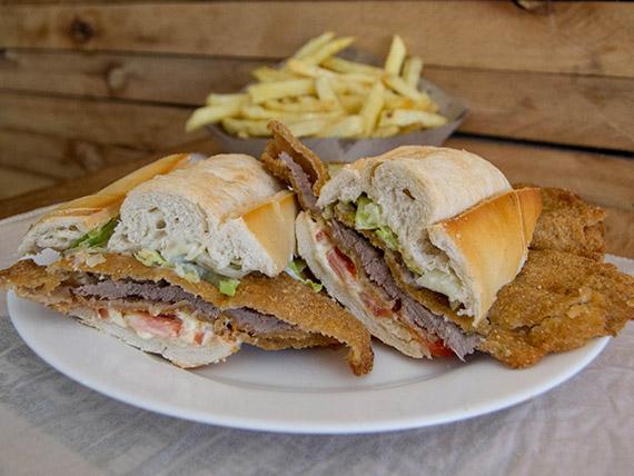 Promo - Sándwich de milanesa + papas fritas
