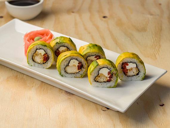22 - Palta roll de salmón, queso y cebollín