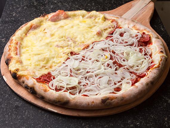 Pizza meio a meio normal