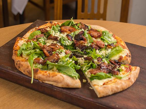 Pizza con rúcula I (8 porciones)