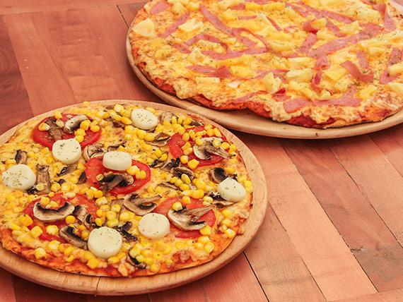 Promo 1 - Pizza familiar + pizza mediana