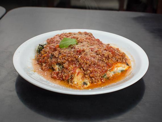 Menú - Lasagna con salsa a elección