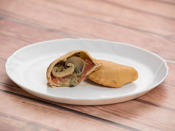 Empanada de champignones