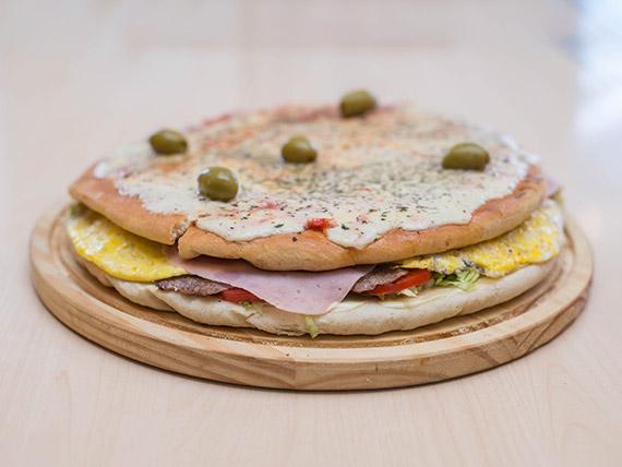 Lomo pizza (4 personas)
