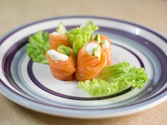 Geishas de salmón rosado (5 unidades)