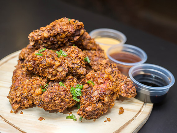 Superbowl de pollo frito