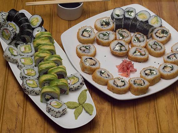 Promo 6 - Sushi rolls (60 piezas)