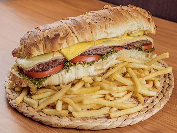 Sándwich torpedo a la hamburguesa