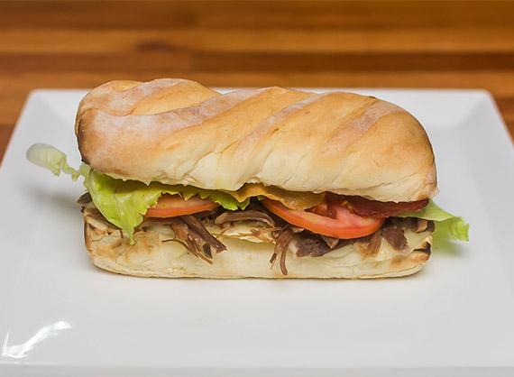 Burger carne seca