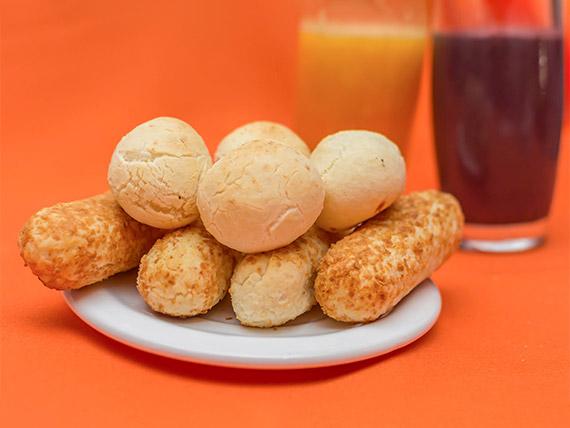Promoção - Vitamina 500 ml + 3 pães de queijo 60 g
