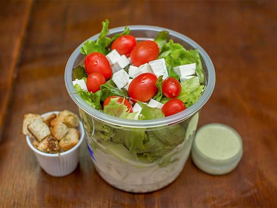 Salada de frango com batata doce (220 kcal)