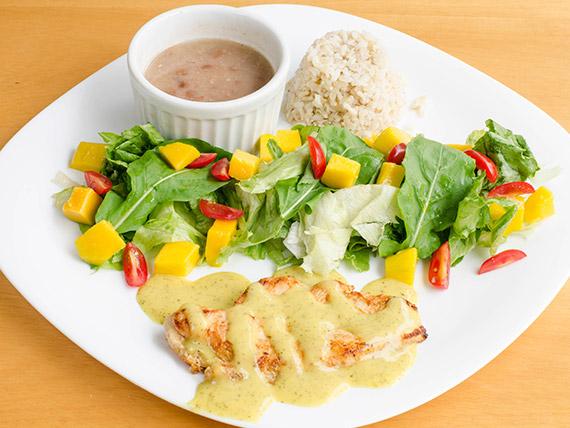 Chicken classic - frango grelhado ao molho de mostarda e mel