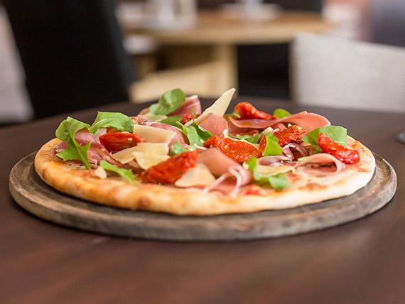 Pizza de Manolo y Francesa