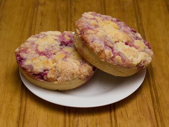Kuchen miga de frambuesa (porción)