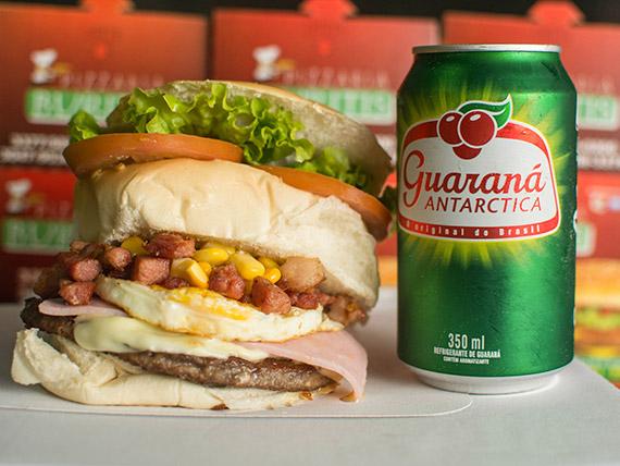 Promoção 3 - picanha burguer especial + guaraná lata