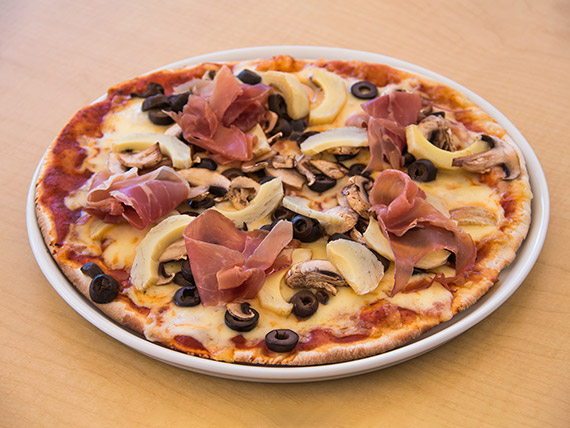 Pizza capricciosa individual (32 cm)
