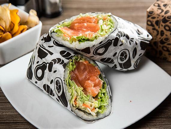 Sushi burrito saltake