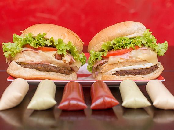Promoção 2 - 2 sanduíches comendador + refrigerante 1 L