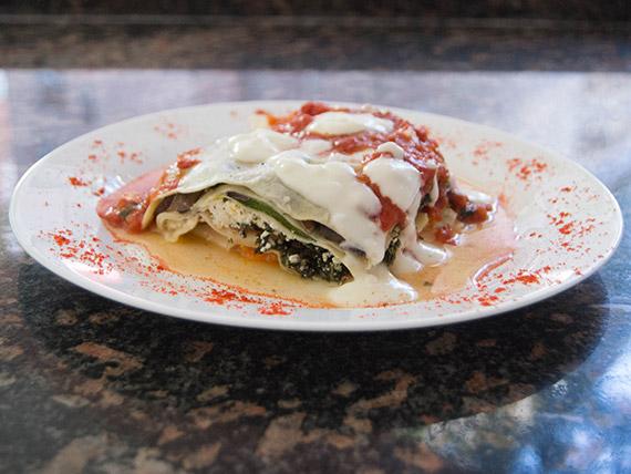 Lasagna bolognesa (porción)