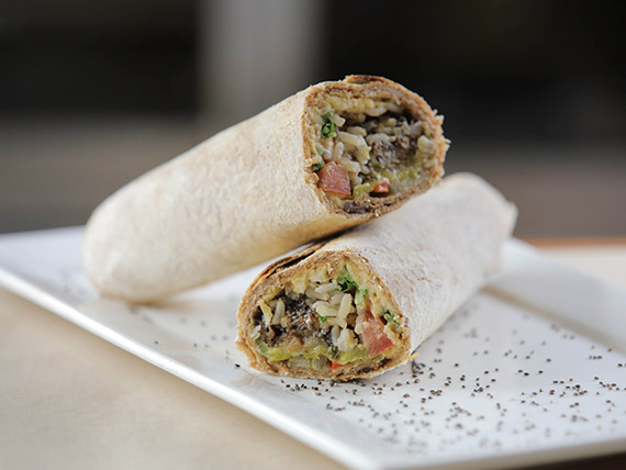 Wrap vegano con hummus