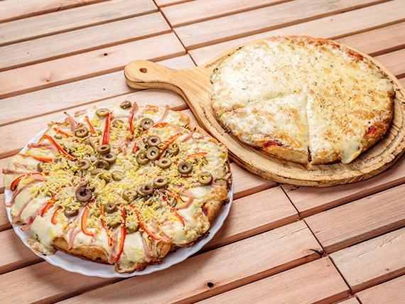 Promo 1 - Muzzarella (8 porciones) + pizza especial (8 porciones)