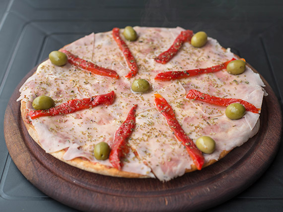 Pizza especial con morrón