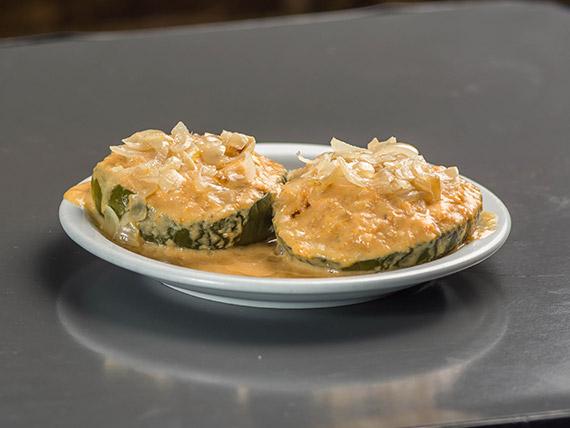 3 - Zapallitos rellenos con arroz integral y salsa