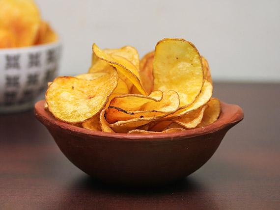 Porción de papas chips