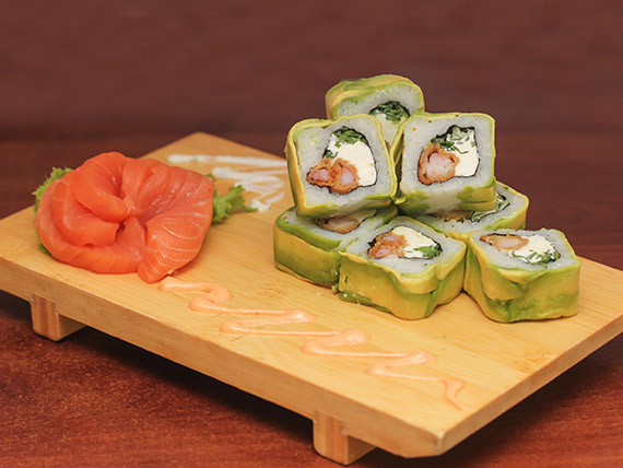 04 - Avocado ebi furai roll (8 bocados)