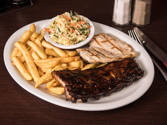 Ribs and chicken