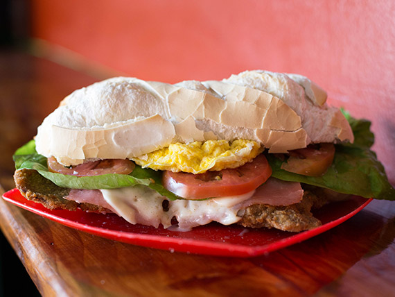 Sándwich de milanesa Pipón