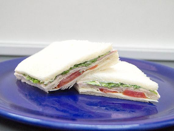 Sándwich baguette de verduras