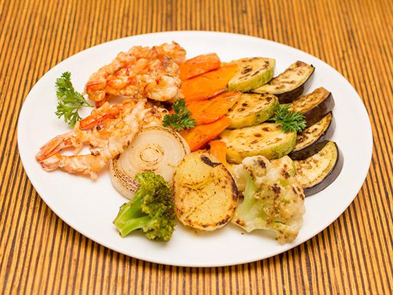 Teppanyaki camarão