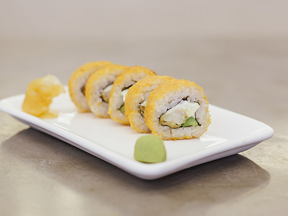 Hot lango furai roll (5 unidades)