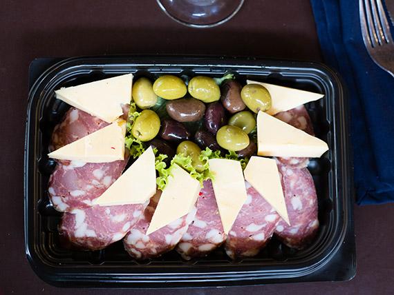Tabla de salame y queso (para 2)