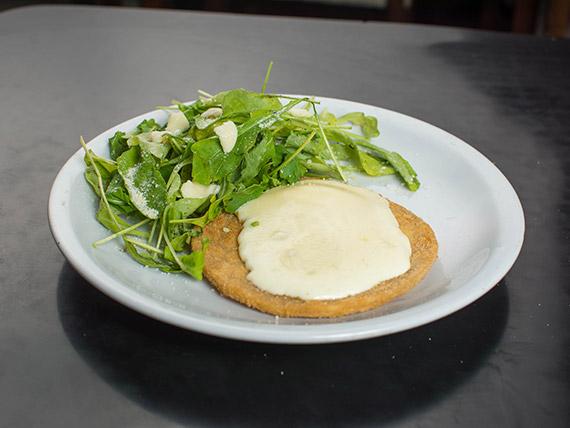 Menú - Medallones de soja gratinados con queso y ensalada