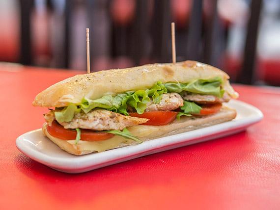 Sandwich ciabatta chicken grill