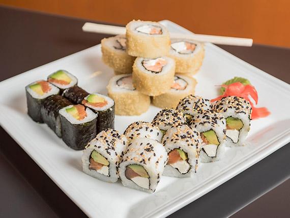 Combinado Kurusake Ya! 1 - Hosomaki +  california roll +  hot roll