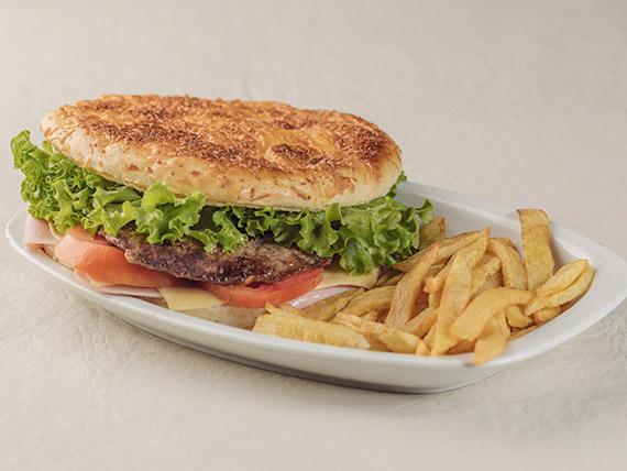 Sándwich figazza de hamburguesa (para compartir)