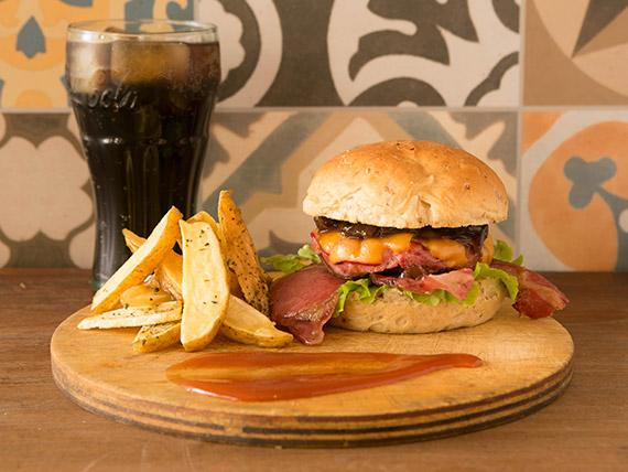 Combo unitario - Burguer + Snack + Refrigerante ou Suco